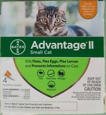Bayer Advantage II 4 Pack for Small Cats 5-9 lbs Genuine EPA Approved NEW