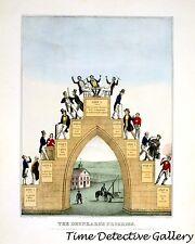 The Drunkard's Progress Temperance Society Print - 1846 - Historic Art Photo