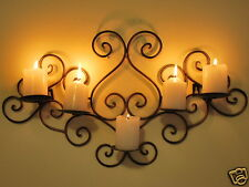 Handmade Iron French scrolls Candle Sconce Holder Wall Decor Brass Color