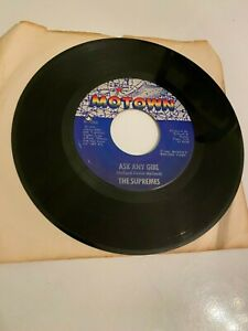 The Supremes Baby Love Ask Any Girl Vinyl Record 45 RPM Mary Wilson 1964 M-1066