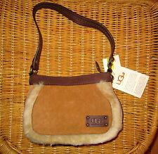 UGG Bag Mini Chestnut Suede Shearling Satchel NEW