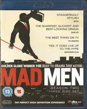 MAD MEN - Series 2. Jon Hamm (3 DISC BLU-RAY SLIM BOX SET 2009)