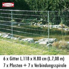 BELLISSA Teichschutzzaun-Set L710xH80cm Zaun Kleintiergehege inkl. Pfosten 92883