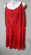 """Ventura RED SEXY 1 PIECE TEDDY ROMPER NIGHTGOWN  SIZE LARGE 50"""" BUST GIFT"""