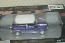 VOITURE COLLECTION  MINI COOPER NEW RAY  NEUF DIE CAST VIOLET   1/32 CAR/AUTO