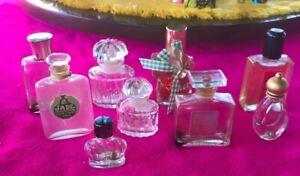 vintage mini perfume bottles lot
