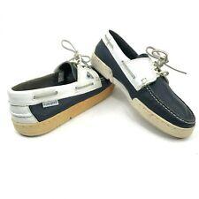 8a4dec1d5d Vintage Le Coq Sportif Sloop Mens 11.5 Boat Shoes Blue White New Dead Stock