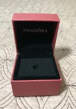 """Pandora Charm Box  RED NEW Iconic Crown """"O"""" Rose Gold Lettering Limited Edition"""