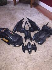 Vintage Lot of 4 Batman Vehicles 4 Parts and Repair 1989 Batmobile 1992 batwing