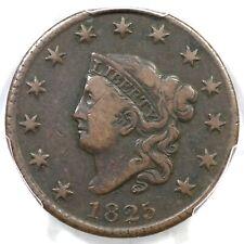 1825 N-8 R-3 PCGS VF 20 Matron or Coronet Head Large Cent Coin 1c