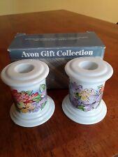 Vintage Avon Spring Hostess Collection 2 Porcelain Candle Holders