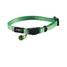 Rogz Cat Collar Safeloc Buckle Kiddycat Lime Medium - fits cats with 8-12in neck