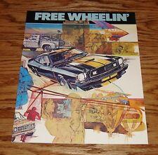 1977 Ford Free Wheelin Sales Brochure Mustang 77