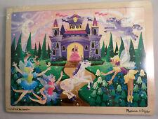Fairy Fantasy Tale Castle Wooden Jigsaw Puzzle -48 Pcs By Melissa & Doug