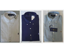 NWT Brand New Polo Ralph Lauren SLIM FIT Solid Denim or Poplin Buttondown Shirt