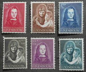 Luxembourg 1950 War Charity, Yv #433-438, MNH, CV=140EUR