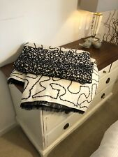 Modern Black Ivory Lace SOFA BED BLANKET THROW 160 x 145