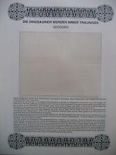 """Irrtümer auf Briefmarken / Georgien : """" Die Dinosaurier werden immer trauriger """""""