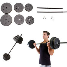 Weight Plates Set Vinyl Standard 100 LB Lifting Home Gym Exercise Heavy Duty Bar