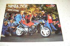 1987 Kawasaki Ninja EX250 - E2..NOS Sales Brochure 4 Pages.