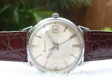 Vintage Bulova manual wind 17 Jewels Steel Fully serviced Swiss made Watch