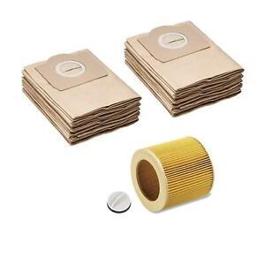 20 Staubsaugerbeutel & Filter geeignet für Kärcher 6.959-130, A 2201 WD 3200 etc