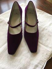 Vintage Ak Anne Klein Purple Velvet Kitten Heels Size 6 1/2M