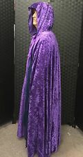 Purple velvet cloak PAGAN WIZARD LARP HALLOWEEN/fancy dress/Gandalf