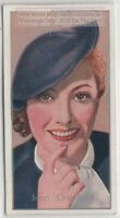 Joan Crawford American Movie Television Dancer Actress 80+  Y/O Trade Ad Card