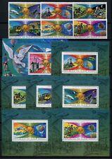 349/Space Raumfahrt 1977 Guinea Bissau UPU 433-38 A + Block 61-67 A Perf MNH