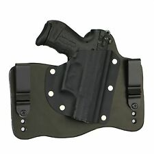 FoxX Leather & Kydex IWB Hybrid Holster Walther P22 Black Right Tuckable Conceal
