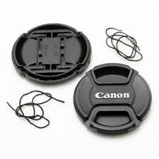 2X 72mm Center-Pinch Snap-On Front Lens Cap For Canon DSLR Lens With Cord NEW