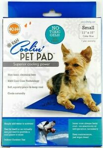 K&H Coolin Pet Pad Dog Mat Bed Small 11 x 15 No Gel BPA Free Blue Cooling NEW