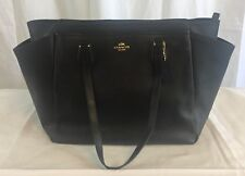 Coach Crossgrain Leather Diaper Bag Multifunction Black Baby Bag F57786 $495 NWT