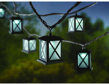 Metal Lantern LED Indoor Outdoor Hanging String Lights Patio Awning Canopy Light