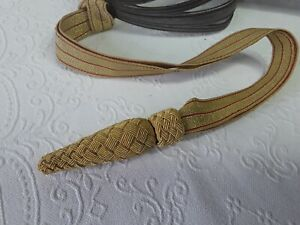 BRITISH ARMY SWORD KNOT GOLD/RED WITH GOLD BRAID