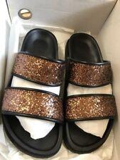 ESPIRIT Monica Slider Sandals Glitter Brown / Bronze size 36 EU 3.5 UK RRP £39
