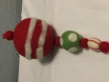 Christmas Ornament Felt Balls Vintage Style