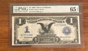 1899 $1 Silver Certificate Black Eagle PMG 65 Gem Uncirculated EPQ