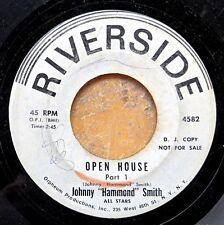 JAZZ ORGAN white label promo 45: JOHNNY HAMMOND SMITH Open House RIVERSIDE 4582