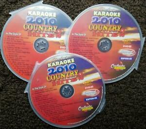 3 CDG DISCS COUNTRY 2010 HITS TWO CHARTBUSTER  KARAOKE 50 SONGS CD+G  5143
