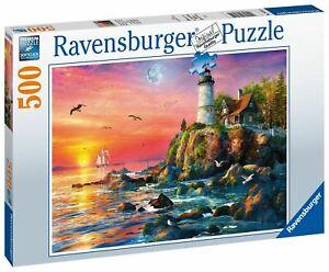 Ravensburger - Lighthouse at Sunset 500pc - Jigsaw Puzzle