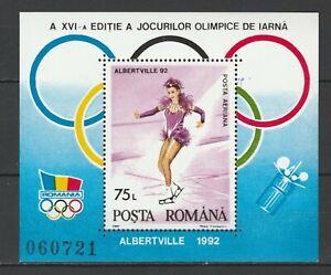 Romania 1992 Olympic Games - Albertville MNH Block