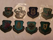 8-USAF COMMAND PATCHES NEW ---SEE STORE WE HAVE A TON USAF ITEMS