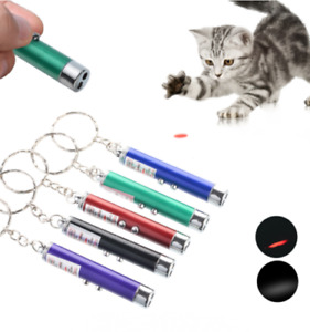Laser Pen Pointer Keychain Keyring With Torch for Cat Dog Toy Pet Multi purpose