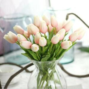 Real Touch Pale Pink Tulips for Corsage and Boutonnieres DIY Crafts Flowers