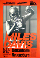 MILES DAVIS  rare concert poster from 1987  rolled