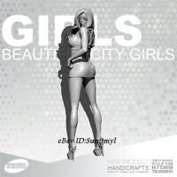 Office girl Resin Kits Unpainted Figure GK YUFAN Model 75mm
