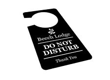 Personalised, Black & White 'Do Not Disturb' Room, Door, Sign, SINGLE Sided