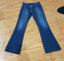 Nobody denim Jeans size 6 vintage style low rise no pockets 70s skinny flare #38
